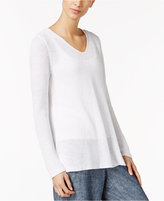 Eileen Fisher Organic Linen V-Neck Sweater, Regular & Petite