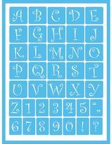 Americana Curly Alphabet Self-Adhesive Stencil