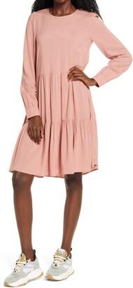 Vero Moda Girlie Tiered Long Sleeve Dress
