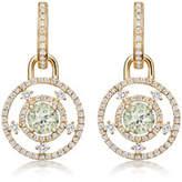 Kiki McDonough Apollo Green Amethyst & Diamond Drop Earrings