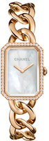 Chanel PREMIèRE 18K Beige Gold Chain Watch, Large Size