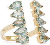 Ileana Makri Deco Pear 18-karat gold sapphire ring