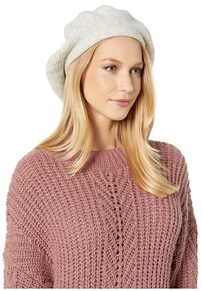 UGG Cozy Knit Beret with Pom (Ivory) Beanies