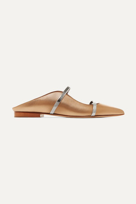Malone Souliers Maureen Metallic Leather Point-toe Flats - Gold