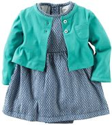 Carter's Baby Girl Geometric Bodysuit Dress & Cardigan Set
