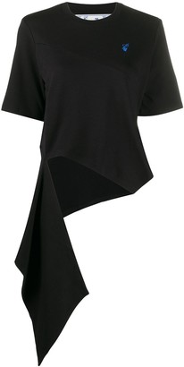 Off-White draped embroidered T-shirt