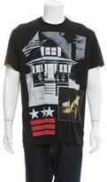 Givenchy LA House Print Crew Neck T-Shirt