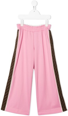 Fendi Kids FF trim trousers