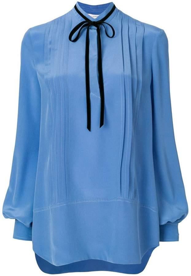 Lanvin pintucked blouse