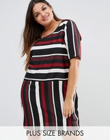 Junarose Striped Shift Dress