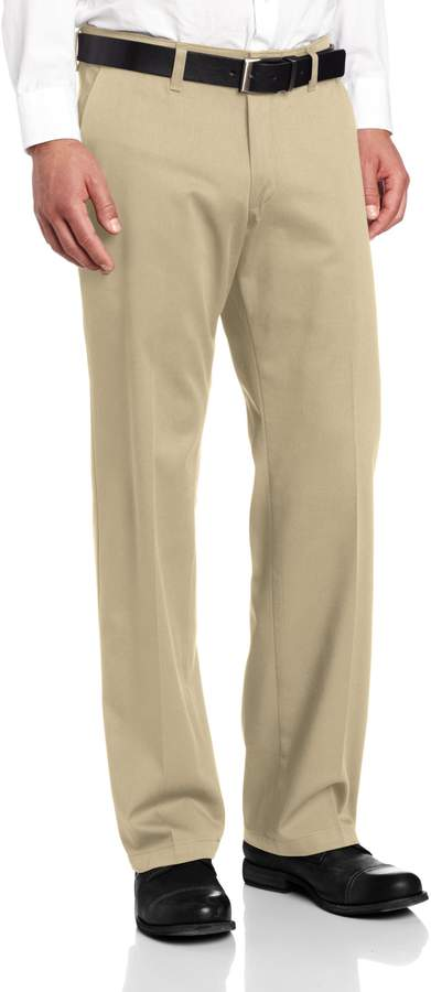 Lee Men's Comfort Waist Custom Straight Fit Flat Front Pant