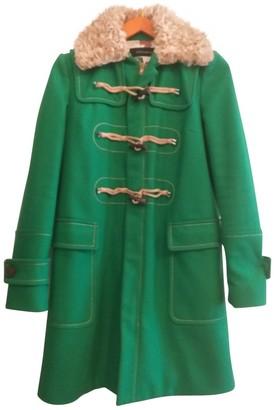 DSQUARED2 Green Wool Coat for Women