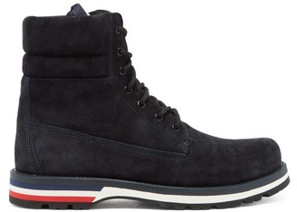 Moncler Vancouver Suede Hiking Boots - Navy