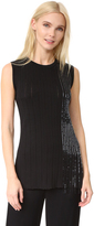 Grey Jason Wu Beaded Crew Neck Top