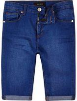 River Island Boys blue skinny denim shorts