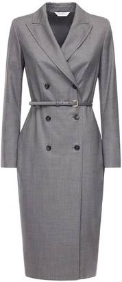 Max Mara Prince Of Wales Wool Jacket Dress