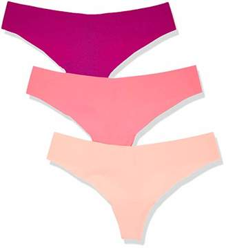 Iris & Lilly BELD011M3 Thong,8 (Size:XS), Pack of 3