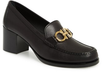 Salvatore Ferragamo Rolo Block Heel Bit Loafer
