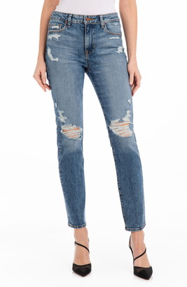 Fidelity Cher Ripped High Waist Ankle Slim Jeans