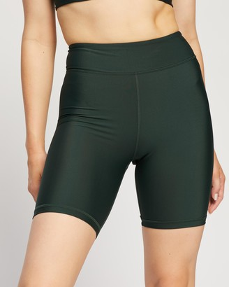 The Upside Women's Green Sports Tights - Matte Tech Spin Shorts - Size XXS at The Iconic