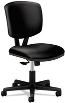 HON Volt H5703 Task Chair with Synchro-Tilt for Office or Computer Desk, Black SofThread Leather