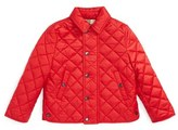 Burberry 'Luke' Quilted Jacket (Toddler Boys)