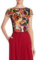 Alice + Olivia Kelli Sequin Embellished Crop Top