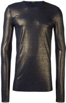 Unconditional ribbed foil T-shirt