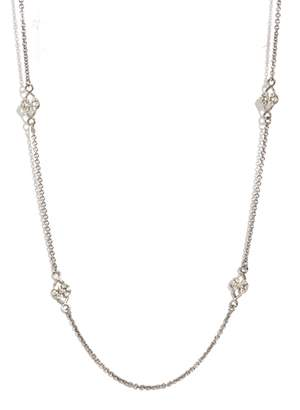 Armenta New World Sterling Silver Diamond Scroll Station Necklace - 0.22 ctw