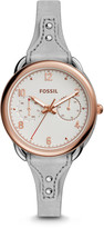Fossil Tailor Multifunction Iron Leather Watch
