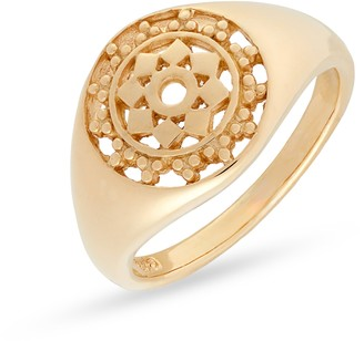 Sterling Forever Lace Window Signet Ring