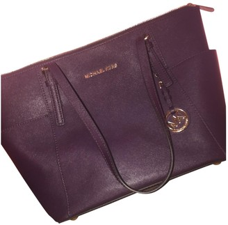 Michael Kors Sady Purple Leather Handbags