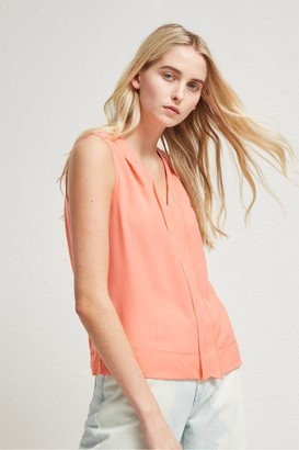 French Connection Crepe Light V Neck Top