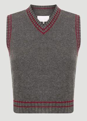 Maison Margiela V Neck Knitted Vest