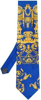 Versace Pre Owned 1990s Greek print classic tie