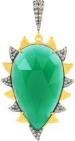 Green Onyx and Diamond Claw Pendant