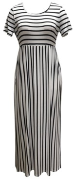 Style&Co. Style & Co Plus Size Seamed-Waist Printed Maxi Dress, Created for Macy's