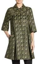 Erdem Yuri Silk A-Line Coat