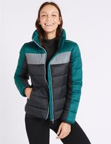 Marks and Spencer Colour Block Jacket with Concealed Hood
