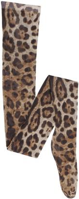 Dolce & Gabbana Printed Nylon Tights