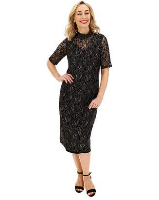 Junarose Glitter Lace Overlay Dress