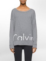 Calvin Klein Performance Oversized Logo Long-Sleeve Top