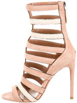 Alaia Stingray Suede Cage Sandals