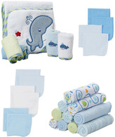 SpaSilk Blue & Green Baby Cloth Set