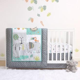Ps By Peanutshell PS by The Peanutshell Safari 3 Piece Crib Bedding Set