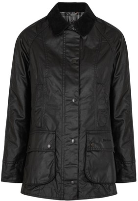 Barbour Beadnell Black Waxed Cotton Jacket