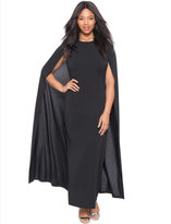ELOQUII Plus Size Studio Jersey Capelet Gown