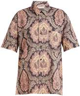 Isabel Marant Iggy leaf-print cotton shirt