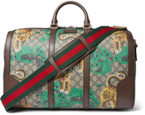 Gucci Leather-Trimmed Printed Coated-Canvas Holdall