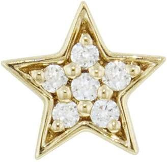 Andrea Fohrman Mini Diamond Star Single Stud Earring - Yellow Gold